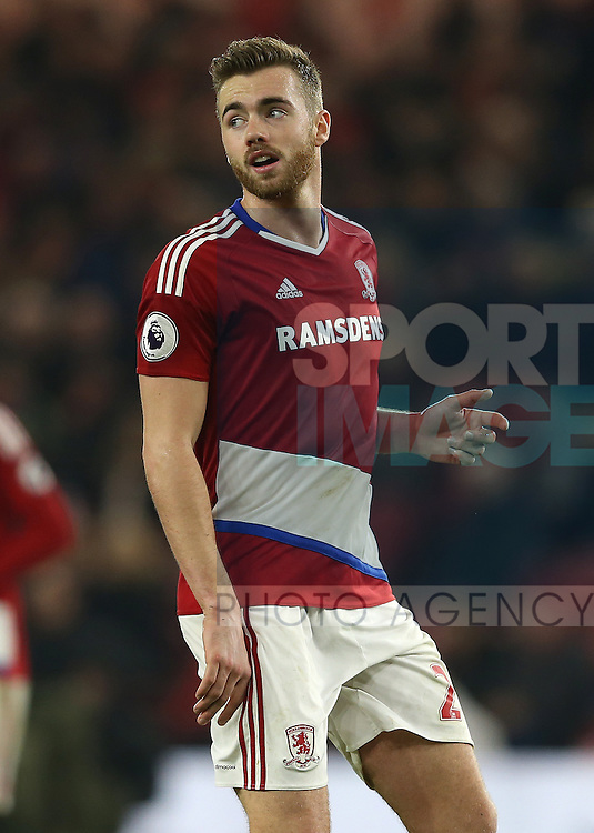 Callum Chambers of Middlesbrough during the English Premier League match at the Riverside Stadium, Middlesbrough. Picture date: December 14th, 2016. Pic Simon Bellis/Sportimage