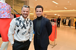 Left to right, DAVID WALKER-SMITH MD of Fenwick and LEO FENWICK at the Melissa Odabash & Future Dreams Preview to launch their collaborative mastectomy swimwear line in aid of the future dreams Haven appeal held at Fenwick, New Bond Street, London on 10th February 2015.