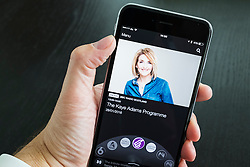 BBC IPlayer Radio streaming app showing Radio Scotland  on an iPhone 6 Plus smart phone