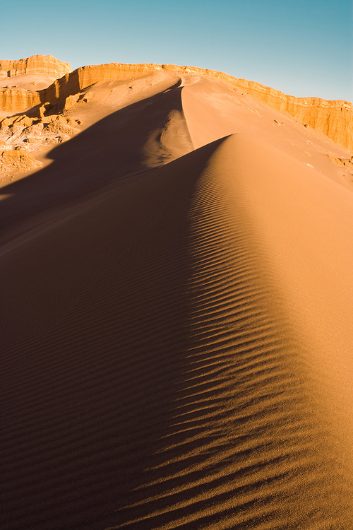 Sand dune at Valle de la Luna (spanish for Moon Valley), San Pedro de Atacama, Atacama desert, Antofagasta Region, Chile, South America