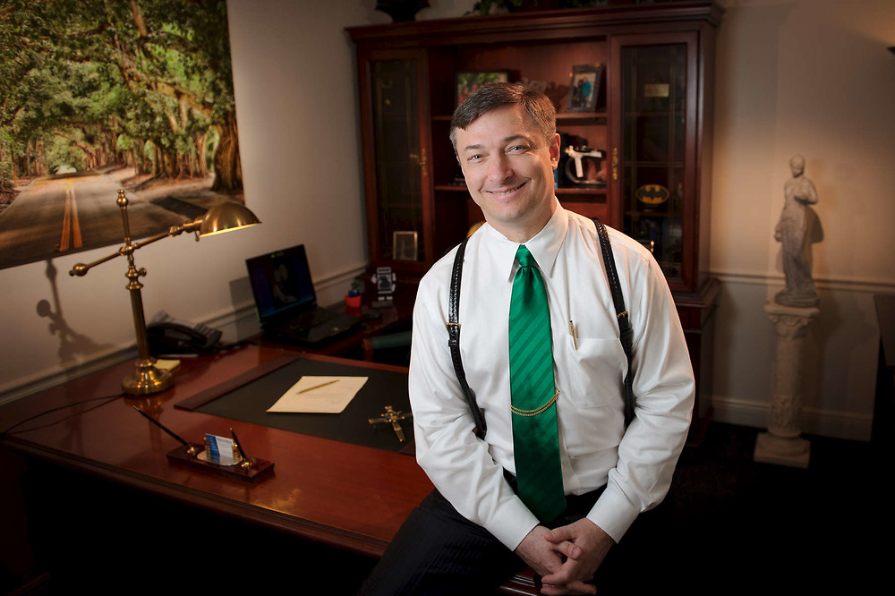 Attorney Anthony George photographed in his office in Stuart FL.