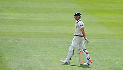 Dejection for Middlesex's Nick Compton after he is dismissed for 28. - Photo mandatory by-line: Harry Trump/JMP - Mobile: 07966 386802 - 27/04/15 - SPORT - CRICKET - LVCC Division One - County Championship - Somerset v Middlesex - Day 2 - The County Ground, Taunton, England.
