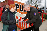 Ipswich Town Manager Paul Lambert with Ipswich fans  during the The FA Cup 3rd round match between Accrington Stanley and Ipswich Town at the Fraser Eagle Stadium, Accrington, England on 5 January 2019.