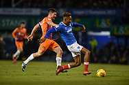Portsmouth Forward, Jamal Lowe (18) with a shot at goal during the EFL Sky Bet League 1 match between Portsmouth and Northampton Town at Fratton Park, Portsmouth, England on 30 December 2017. Photo by Adam Rivers.