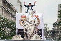Sergio Ramos during the celebration of the victory of the Real Madrid Champions League at Plaza de Cibeles in Madrid. May 28. 2016. (ALTERPHOTOS/Borja B.Hojas)
