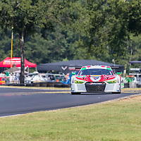 Alton, VA - Aug 26, 2016:  The Stevenson Motorsports Audi races through the turns at the Michelin GT Challenge at VIR at Virginia International Raceway in Alton, VA.