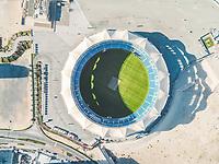 DUBAI, UNITES ARAB EMIRATES - 26 January 2017 : Aerial view of the international cricket stadium in Dubai, United Arab Emirates.