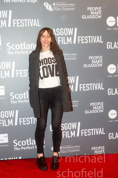 Actress Kate Dickie attending the World Premiere of Mad To Be Normal, the closing gala of the Glasgow Film Festival, held at the GFT.