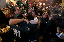 February 4, 2018 - Minneapolis, MN, USA - It was a jubilant, tearful scene for some as Philadelphia Eagles fans took in the game at the Town Hall Brewery during the waning moments of the Eagles' 41-33 win over the New England Patriots on Sunday, Feb. 4, 2018, in Minneapolis, Minn. (Credit Image: © David Joles/TNS via ZUMA Wire)