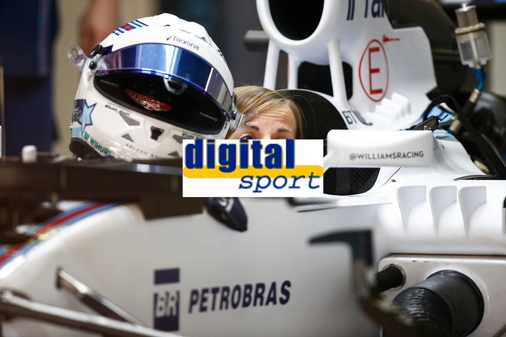 WOLFF susie (sct) test driver williams f1 mercedes fw37 ambiance portrait during 2015 Formula 1 FIA world championship, Spain Grand Prix, at Barcelona Catalunya from May 8th to 10th. Photo Florent Gooden / DPPI