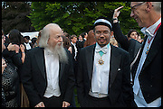 PETA FOWLER; MICHAEL GOLDSMITH; AFIFI AL-AKILI; PROVOST PROF JONATHAN BATE, The Tercentenary Ball, Worcester College. Oxford. 27 June 2014
