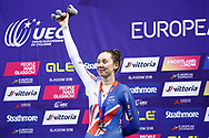 Podium, Women Individual Pursuit, Katie Archibald (Great Britain) silver medal during the Track Cycling European Championships Glasgow 2018, at Sir Chris Hoy Velodrome, in Glasgow, Great Britain, Day 3, on August 4, 2018 - Photo Luca Bettini / BettiniPhoto / ProSportsImages / DPPI