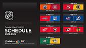 March 30, 2021 (USA): NHL Hockey On NBC