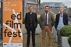2016 Edinburgh International Film Festival, (left to right) Alex Kapranos (Franz Ferdinand)Stewart Henderson (Chemical Underground/The Delgados), Niall McCann (Director) during the WORLD PREMIERE (DOCUMENTARY) LOST IN FRANCE, The Apex Hotel Grassmarket, Edinburgh16th June 2016, (c) Brian Anderson   Edinburgh Elite media<br /> <br /> Niall McCann (Director) <br /> Alex Kapranos (Musician)<br /> Emma Pollock (Musician)<br /> Paul Savage (Musician)<br /> Stewart Henderson (Musician)<br /> David Sosson (Musician)
