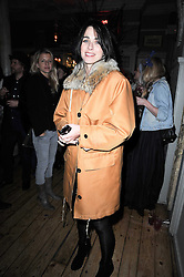 EMILY SHEFFIELD at a party to celebrate the 1st anniversary of Alice Temperley's label held at Paradise, Kensal Green, London W10 on 25th November 2010.