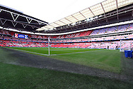 a General view inside an empty Wembley stadium prior to kick off. Capital One Cup Final, Liverpool v Manchester City at Wembley stadium in London, England on Sunday 28th Feb 2016. pic by Chris Stading, Andrew Orchard sports photography.