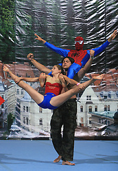 Super heroji, Flip, Slovenia during Show programme at second day of European Cheerleading Championship 2008, on July 6, 2008, in Arena Tivoli, Ljubljana, Slovenia. (Photo by Vid Ponikvar / Sportal Images).