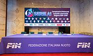 Tavolo<br /> Presentazione Campionato Italiano Pallanuoto 2019-2020<br /> Federazione Italiana Nuoto FIN<br /> Foro Italico Sala conferenze 03/10/2019<br /> Photo © Deepbluemedia