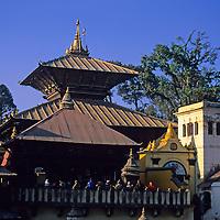 Asia, Nepal, Kathmandu, Swayambhunath complex.