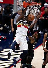 Timberwolves v Pelican - 31 Dec 2018