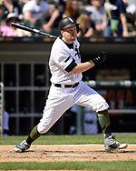 CHICAGO - MAY 27:  Todd Frazier #21 of the Chicago White Sox bats against the Detroit Tigers during the first game of a double header on May 27, 2017 at Guaranteed Rate Field in Chicago, Illinois.  (Photo by Ron Vesely) Subject:   Todd Frazier