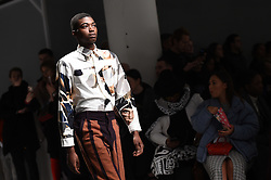 Models on the catwalk during the Alex Mullins London Fashion Week Men's AW18 show, held at the BFC Show space, London. Picture date: Sunday January 7th, 2018. Photo credit should read: Matt Crossick/ EMPICS Entertainment.