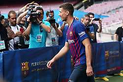 July 13, 2018 - Barcelona, Catalonia, Spain - presentation of Clement Lenglet as a new player of FC Barcelona, on 13th July, 2018, in Barcelona, Spain. (Credit Image: © Joan Valls/NurPhoto via ZUMA Press)