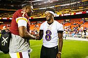 August 29, 2019<br /> Baltimore Ravens v Washington Redskins pre-season game..