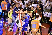 DESCRIZIONE : Campionato 2014/15 Serie A Beko Grissin Bon Reggio Emilia - Dinamo Banco di Sardegna Sassari Finale Playoff Gara7 Scudetto<br /> GIOCATORE : Jerome Dyson Brian Sacchetti<br /> CATEGORIA : esultanza postgame<br /> SQUADRA : Banco di Sardegna Sassari<br /> EVENTO : Campionato Lega A 2014-2015<br /> GARA : Grissin Bon Reggio Emilia - Dinamo Banco di Sardegna Sassari Finale Playoff Gara7 Scudetto<br /> DATA : 26/06/2015<br /> SPORT : Pallacanestro<br /> AUTORE : Agenzia Ciamillo-Castoria/GiulioCiamillo<br /> GALLERIA : Lega Basket A 2014-2015<br /> FOTONOTIZIA : Grissin Bon Reggio Emilia - Dinamo Banco di Sardegna Sassari Finale Playoff Gara7 Scudetto<br /> PREDEFINITA :