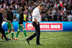 coach John van den Brom of AZ during the Dutch Toto KNVB Cup Final match between AZ Alkmaar and Feyenoord on April 22, 2018 at the Kuip stadium in Rotterdam, The Netherlands.