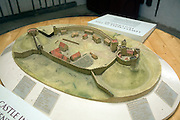 Model of Lewes Castle, East Sussex, England