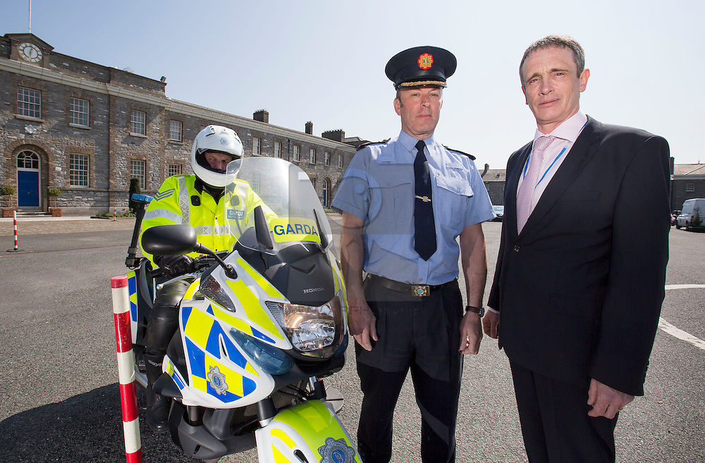 ***No Repro Fee*** 29/04/2014 <br /> Assistant Garda Commissioner John Twomey, Garda National Traffic Bureau is pictured with Michael Rowland, Director, Road Safety Authority (RSA) as the RSA and An Garda Síochána urge motorcyclists, scooter and moped users to bike safely on the roads this summer following an almost 70% rise in motorcycle rider fatalities (up from 16 to 27) in 2013. To date, 2 motorcyclists have dies on Irish roads in 2014. Picture Andres Poveda