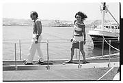 MORT ZUCKERMAN, DIANE VON FURSTENBURG, Party in the harbour on Rupert Murdoch's yacht.  Forbes weekend, TANGIER 1989