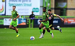 Danny Newton of Stevenage chases down Ebou Adams of Forest Green Rovers- Mandatory by-line: Nizaam Jones/JMP - 17/10/2020 - FOOTBALL - innocent New Lawn Stadium - Nailsworth, England - Forest Green Rovers v Stevenage - Sky Bet League Two