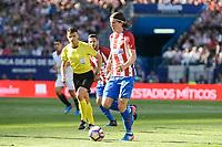 Atletico de Madrid's  Filipe Luis during La Liga match between Atletico de Madrid and Sevilla CF at Vicente Calderon Stadium in Madrid, Spain. March 19, 2017. (ALTERPHOTOS/BorjaB.Hojas)