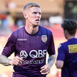 BRISBANE, AUSTRALIA - OCTOBER 30: Andy Keogh of the Glory warms up before the round 4 Hyundai A-League match between the Brisbane Roar and Perth Glory at Suncorp Stadium on October 30, 2016 in Brisbane, Australia. (Photo by Patrick Kearney/Brisbane Roar)