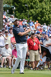 August 9, 2018 - Town And Country, Missouri, U.S - MARC LEISHMAN from Australia watches his tee shot on hole number 6 during round one of the 100th PGA Championship on Thursday, August 8, 2018, held at Bellerive Country Club in Town and Country, MO (Photo credit Richard Ulreich / ZUMA Press) (Credit Image: © Richard Ulreich via ZUMA Wire)