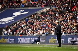 Newcastle United manager Rafael Benitez on the touchline during the Premier League match at Wembley Stadium, London.