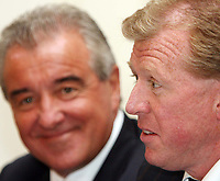 Photo: Chris Ratcliffe.<br />England Press Conference. 11/08/2006.<br />Terry Venables and Steve McClaren address the media.