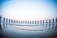 Circle at the Indian Shanti Yoga Festival, Goa India