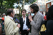 ANTONY HAYDEN-GUEST, ALEX LOGSDAIL AND VIKTOR WYND, Beyond Belief-Damien Hirst. White Cube Hoxton and Mason's Yard.Party  afterwards at the Dorchester. Park Lane. 2 June 2007.  -DO NOT ARCHIVE-© Copyright Photograph by Dafydd Jones. 248 Clapham Rd. London SW9 0PZ. Tel 0207 820 0771. www.dafjones.com.