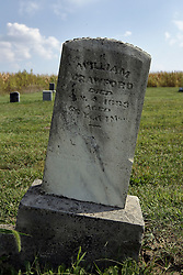 23 September 2017: William Crawford.  West Union Cemetery is located on the north side of Illinois Rt 9 between Danvers and Mackinaw.  It is located within McLean County