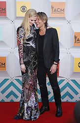 April 3, 2016 - Las Vegas, Nevada, U.S. -  NICOLE KIDMAN and KEITH URBAN at the 51st Academy of Country Music Awards, held at  MGM Grand Garden Arena.  (Credit Image: © Mjt/AdMedia via ZUMA Wire)