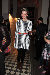 BRYONY DANIELS at a fashion show featuring designs from Celia Kritharioti Spring/Summer 2012 collection held at One Mayfair, London on 20th March 2012.