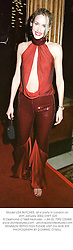 Model LISA BUTCHER, at a party in London on 26th January 2002.	OWY 324