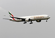 Emirates Airlines, Boeing 777-300 at Linate airport, Milan, Italy