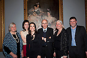 TESSA MURDOCH; SIENNA MURDOCH; SOPHIE MEYER; ASHLEY MEYER; CAROLYN SANDS; DAVID SANDS ; Mrs. Carl Meyer and her Children. John Singer Sargent Migrations private view, Tate Britain. London. 30 January 2012.