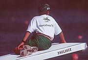 Barcelona,  SPAIN, 1992 Olympic Regatta. Lake Banyoles, Nr Barcelona SPAIN, uniformed Boat Holder,  [Photo, Peter Spurrier/Intersport-images]