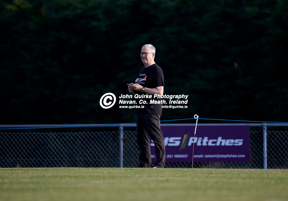 23-07-21, Premier Soccer at Claremont Stadium<br /> Parkvilla v Trim Celtic<br /> The scribbler himself … Meath Chronicle Sports Editor - Conal Collier<br /> Photo: David Mullen / www.quirke.ie ©John Quirke Photography, Proudstown Road Navan. Co. Meath. 046-9079044 / 087-2579454.<br /> ISO: 320; Shutter: 1/1250; Aperture: 5;