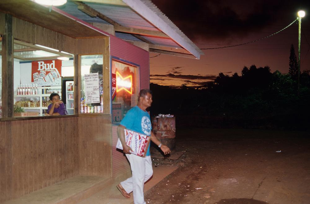 Budweiser is a local island favorite, Yap, Wa`ab, Waqab, Federated States of Micronesia, islands in the Caroline Islands